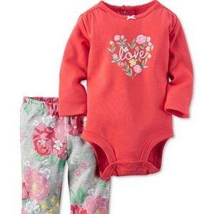 Carters Baby Girls Long Sleeve Bodysuit & Legging